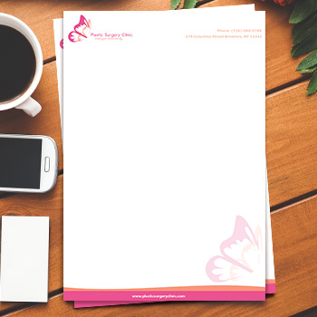 full color 8.5x11  letterhead printing