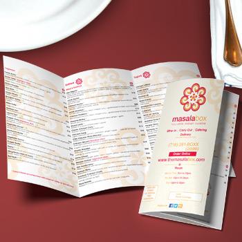 8 5x11 eddm restaurant menus printing full color eddm restaurant