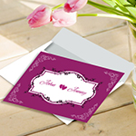 Flat Invitation Card