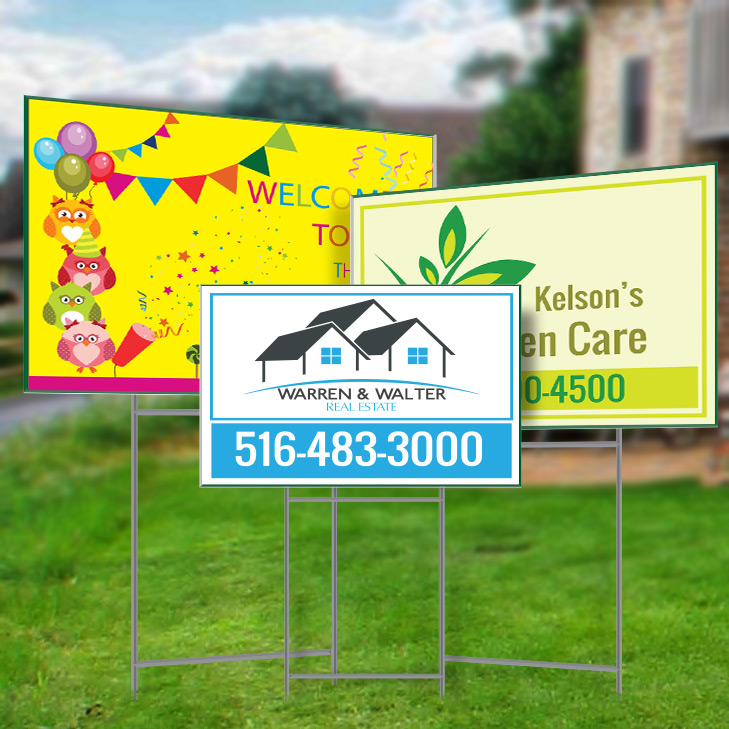 Custom Made Real Estate Yard Sign In Long Island Full