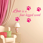 Wall decal lettering