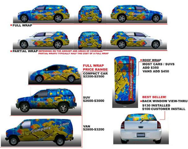Van Wrap Printing At Low Cost Custom Full Color Vehicle